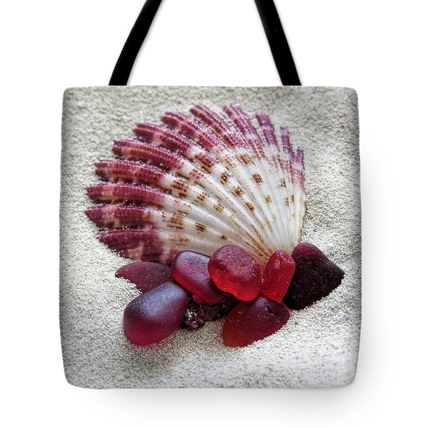 Salt Glass In Red  Tote Bag