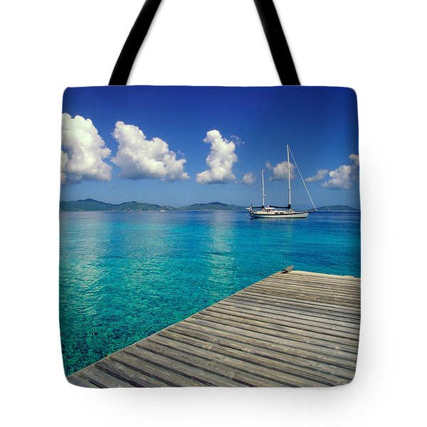 Salt Island Ancorage Tote Bag