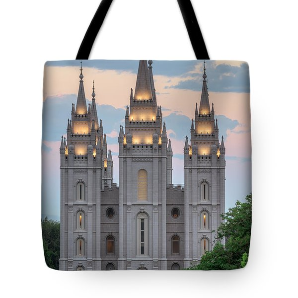 Salt Lake City Temple Morning Tote Bag