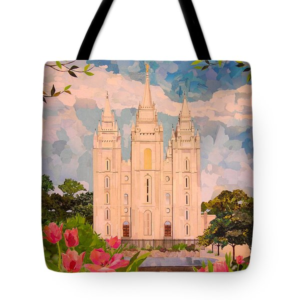 Salt Lake City Temple Tote Bag