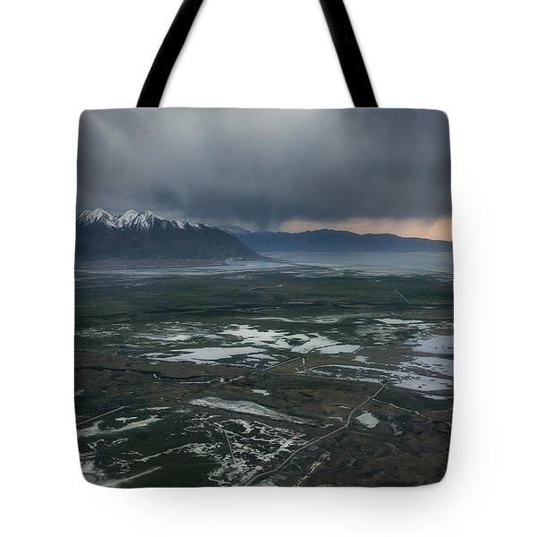 Tote Bag featuring the photograph Salt Lake Drama by Ryan Manuel
