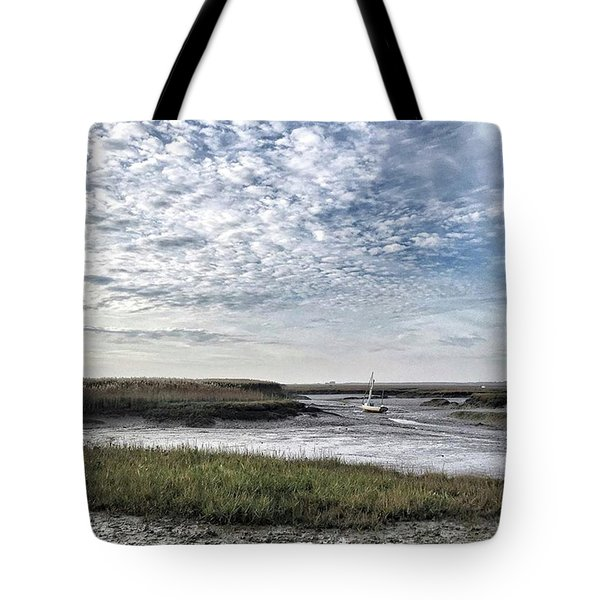 Salt Marsh And Creek, Brancaster Tote Bag by John Edwards