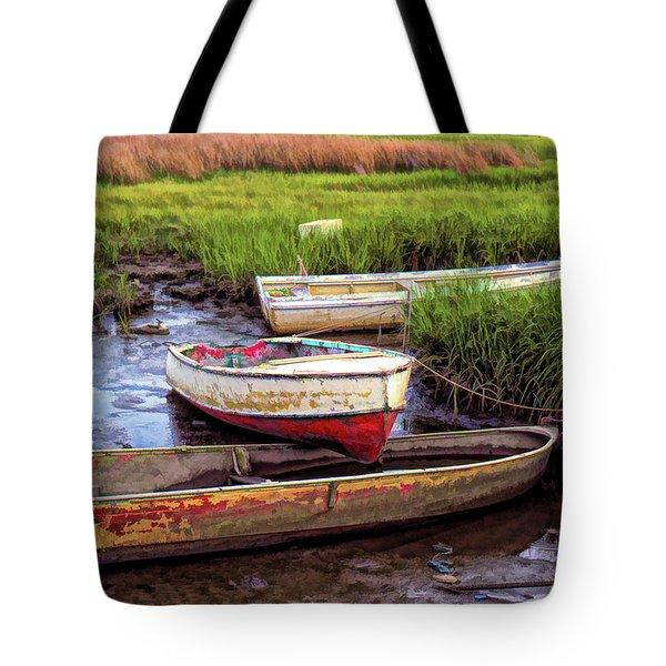 Tote Bag featuring the photograph Salt Marsh by Richard Goldman