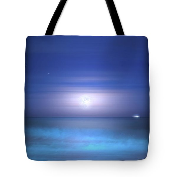 Tote Bag featuring the photograph Salt Moon by Mark Andrew Thomas
