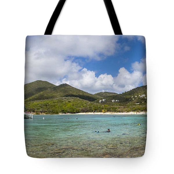 Tote Bag featuring the photograph Salt Pond Bay Panoramic by Adam Romanowicz