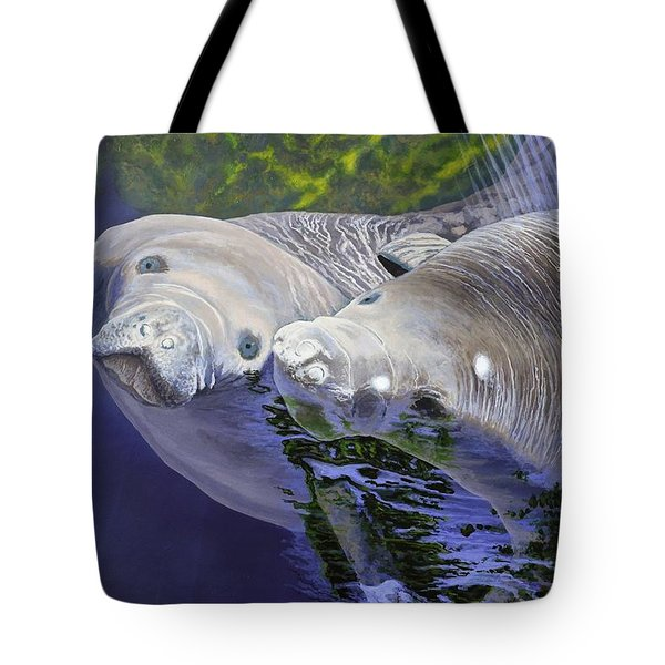 Salt Water Ballet - Manatees Tote Bag