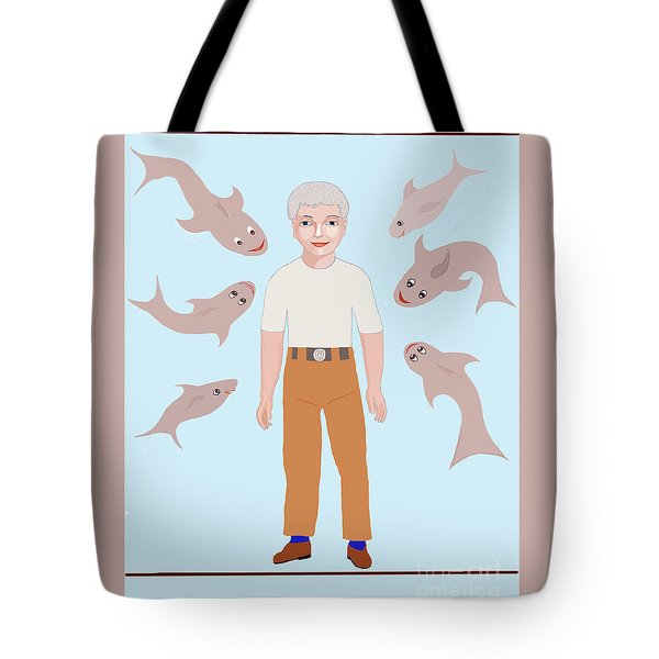 Salt Water Friends Tote Bag by Fred Jinkins