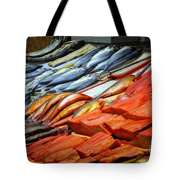 Tote Bag featuring the photograph Salted And Preserved Fish by Yali Shi