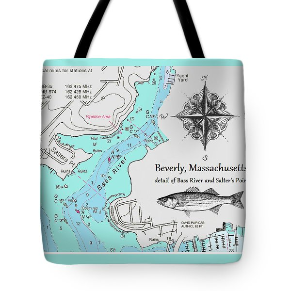 Salter's Point Map Tote Bag