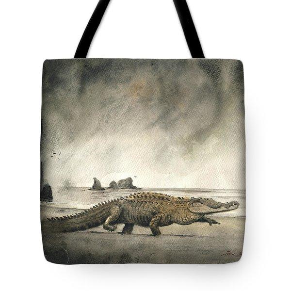 Saltwater Crocodile Tote Bag