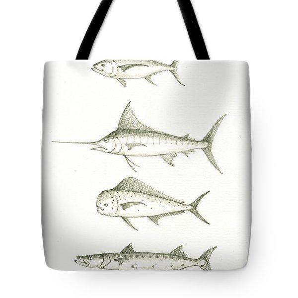 Saltwater Gamefishes Tote Bag