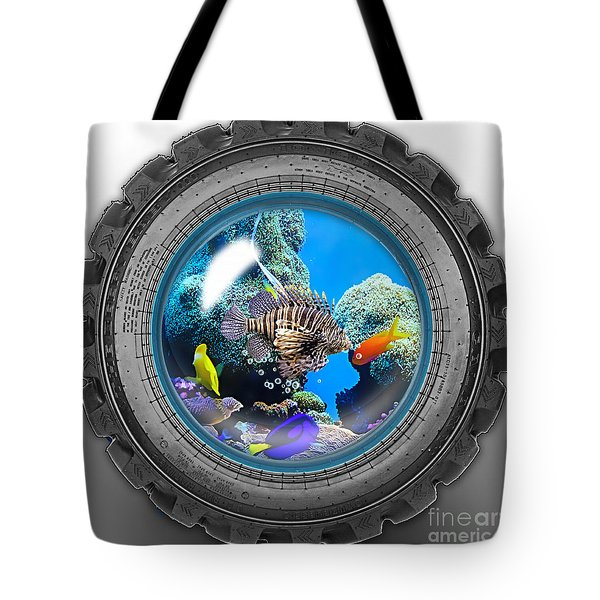 Saltwater Tire Aquarium Tote Bag