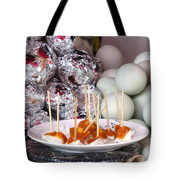 Tote Bag featuring the photograph Salty Duck Eggs by Yali Shi