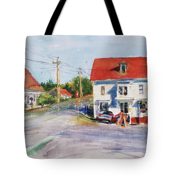Salty Market, North Truro Tote Bag by Peter Salwen