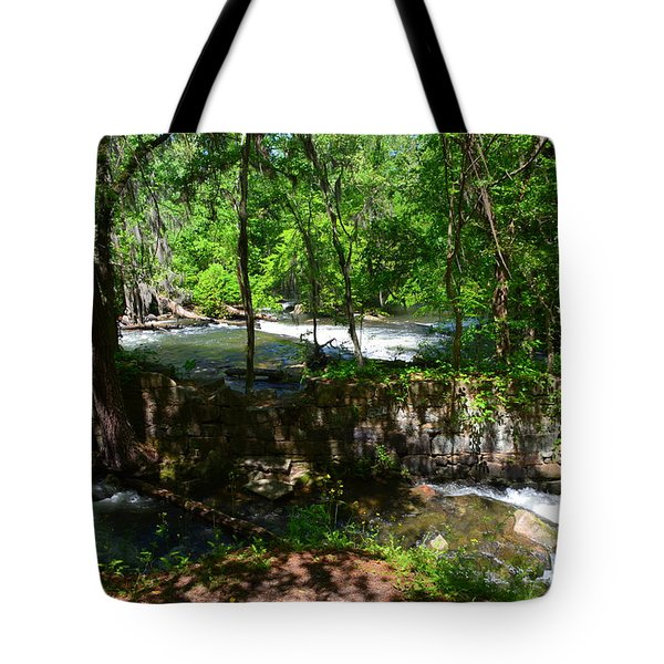 Tote Bag featuring the photograph Saluda River Columbia Sc by Lisa Wooten