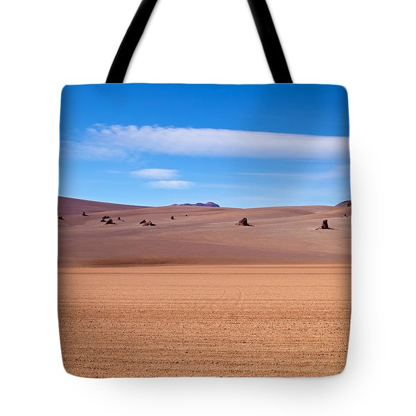 Salvador Dali Desert With Clouds Tote Bag