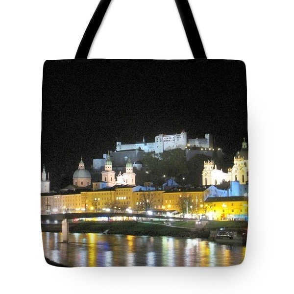 Salzburg At Night Tote Bag