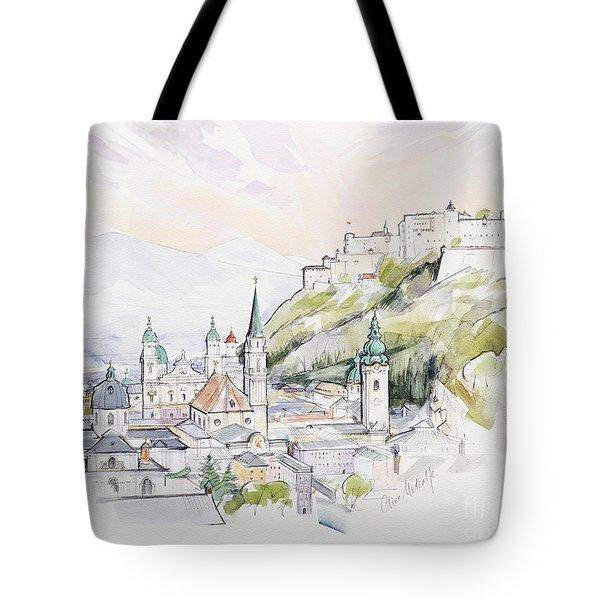 Salzburg Sunrise  Tote Bag by Clive Metcalfe
