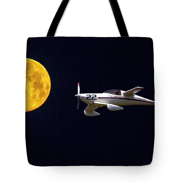 Sam And The Moon Tote Bag