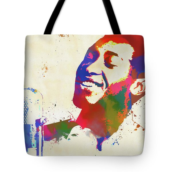 Tote Bag featuring the painting Sam Cooke by Dan Sproul