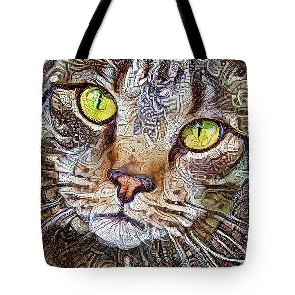 Sam The Tabby Cat Tote Bag