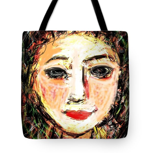 Tote Bag featuring the digital art Samantha by Elaine Lanoue