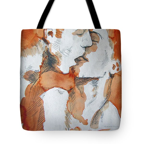 Tote Bag featuring the painting Same Love by Rene Capone