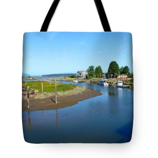 Samish River Tote Bag by Karen Molenaar Terrell