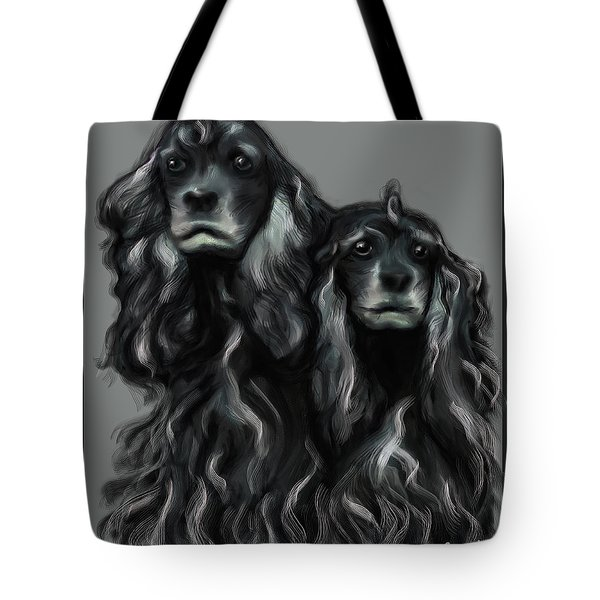 Tote Bag featuring the digital art Sammy And Cloe by Thomas Lupari