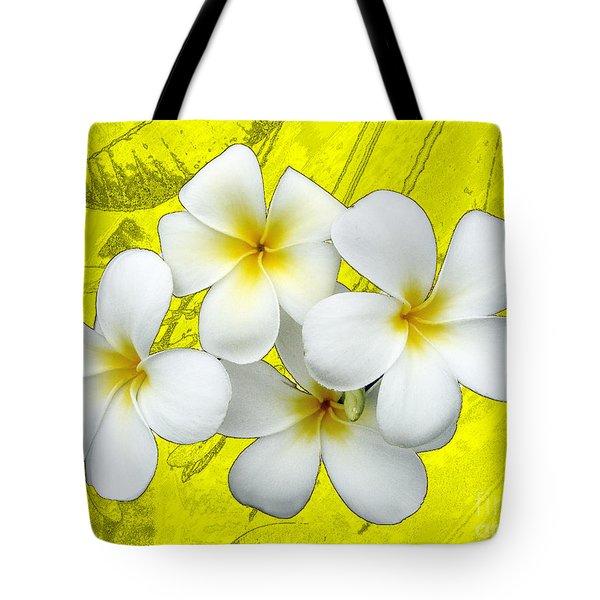 Samoan Frangrapani Tote Bag