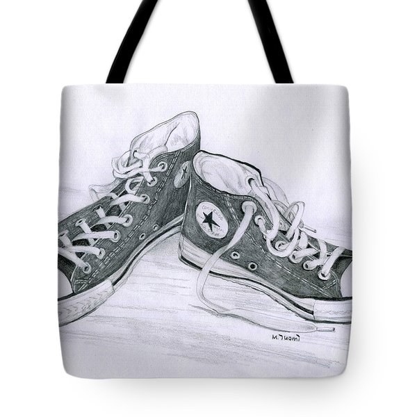 Sam's Shoes Tote Bag by Mary Tuomi