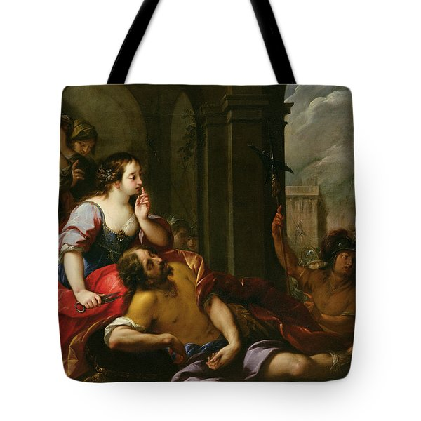 Samson And Delilah Tote Bag by Giuseppe Nuvolone