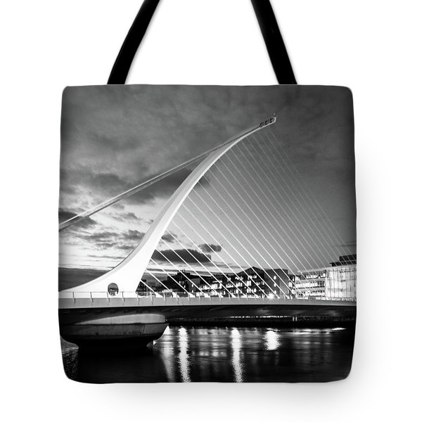 Samuel Beckett Bridge In Bw Tote Bag