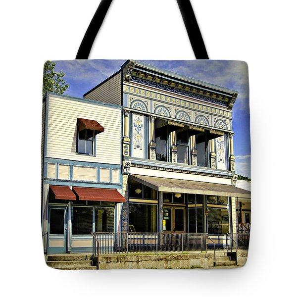 Samuel Hackmann Building Tote Bag by Cricket Hackmann