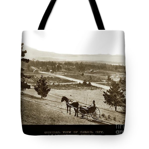 Samuel J. Duckworth Pauses To Look Upon What Would Become Carmel 1890 Tote Bag