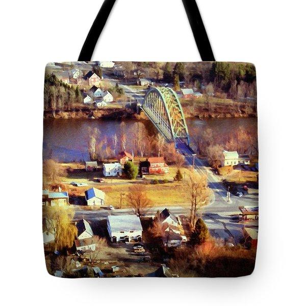 Samuel Morley Bridge Fairlee Vt To Orford Nh Tote Bag