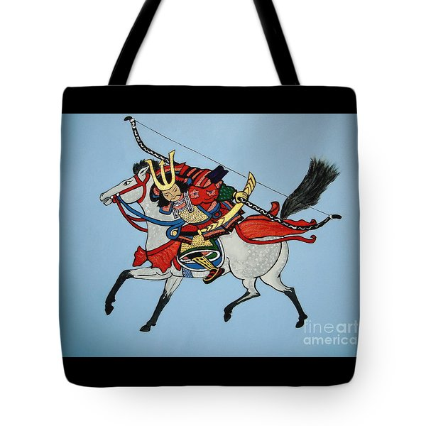 Tote Bag featuring the painting Samurai Rider by Stephanie Moore