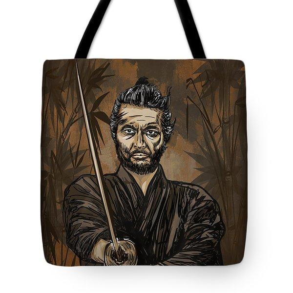 Samurai Warrior. Tote Bag