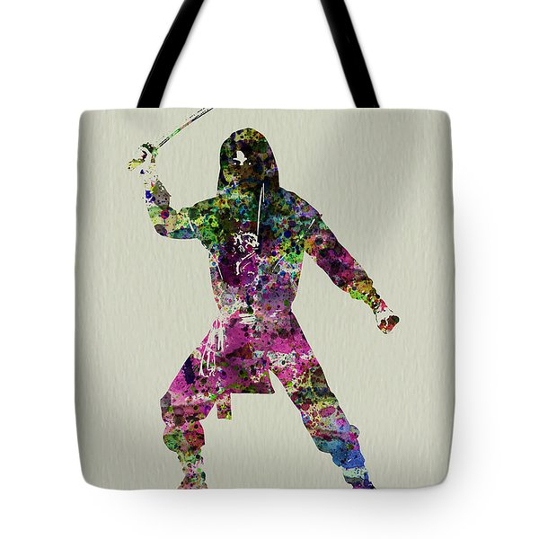 Samurai With A Sword Tote Bag by Naxart Studio