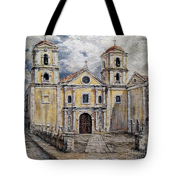 San Agustin Church 1800s Tote Bag by Joey Agbayani