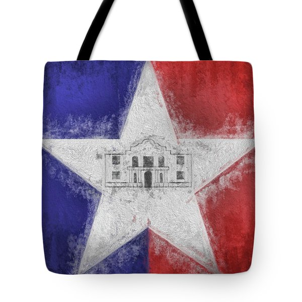Tote Bag featuring the digital art San Antonio City Flag by JC Findley