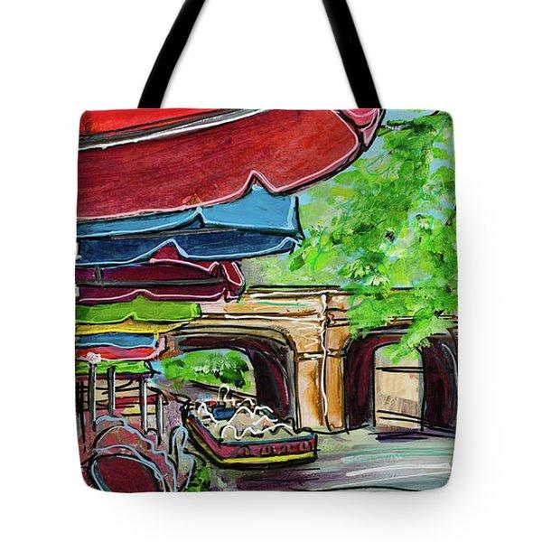 San Antonio River Walk Cafe Tote Bag