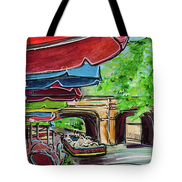 San Antonio River Walk Cafe Tote Bag