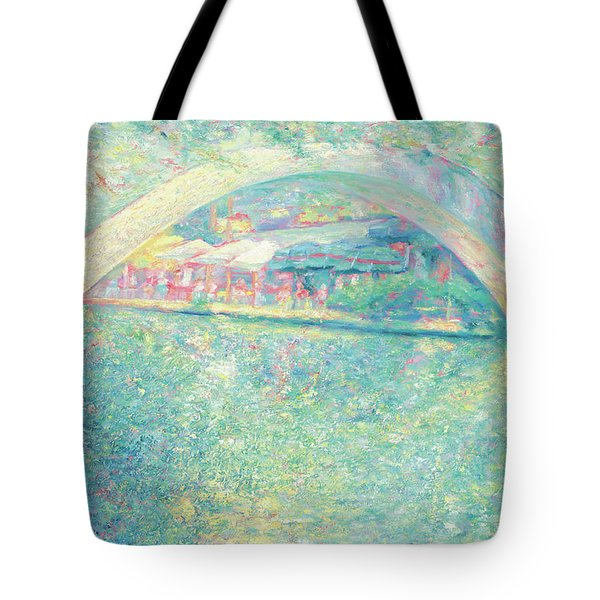 Tote Bag featuring the painting San Antonio Riverwalk by Felipe Adan Lerma