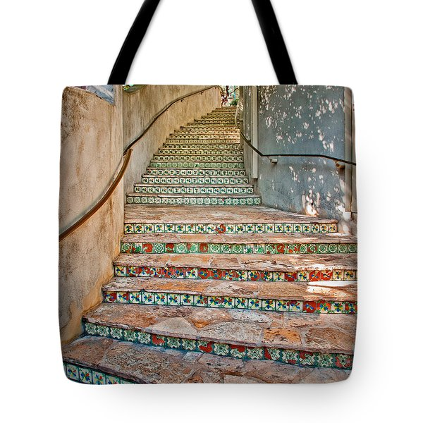 San Antonio Riverwalk Stairway Tote Bag