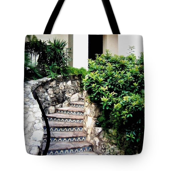 San Antonio Stairway Tote Bag by Will Borden