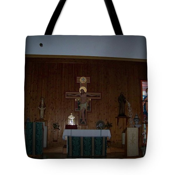 San Bernardo Abad,la Virgen Milagrosa Tote Bag