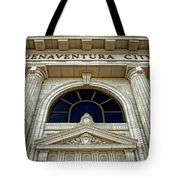 Tote Bag featuring the photograph San Buenaventura City Hall by John A Rodriguez