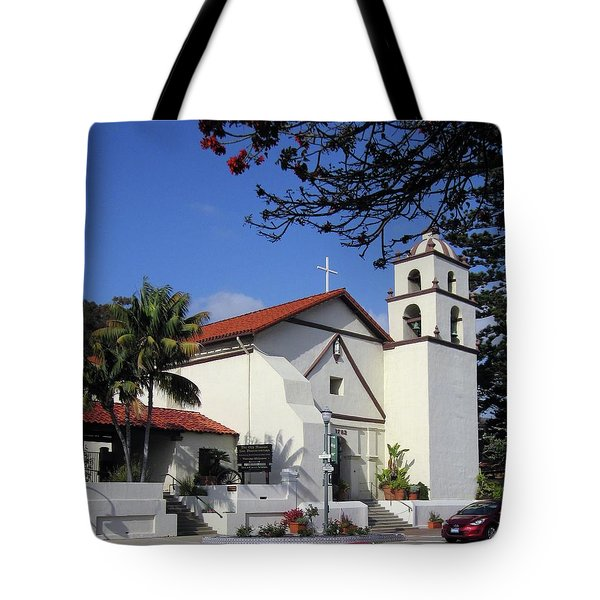 Tote Bag featuring the photograph San Buenaventura Mission by Mary Ellen Frazee
