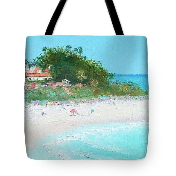 San Clemente Beach Panorama Tote Bag